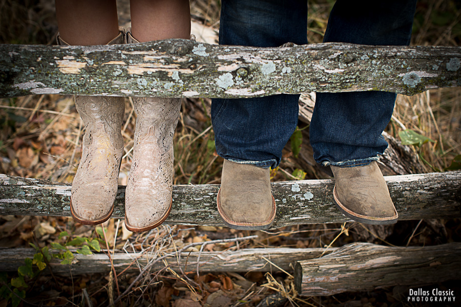 Boots on the fence