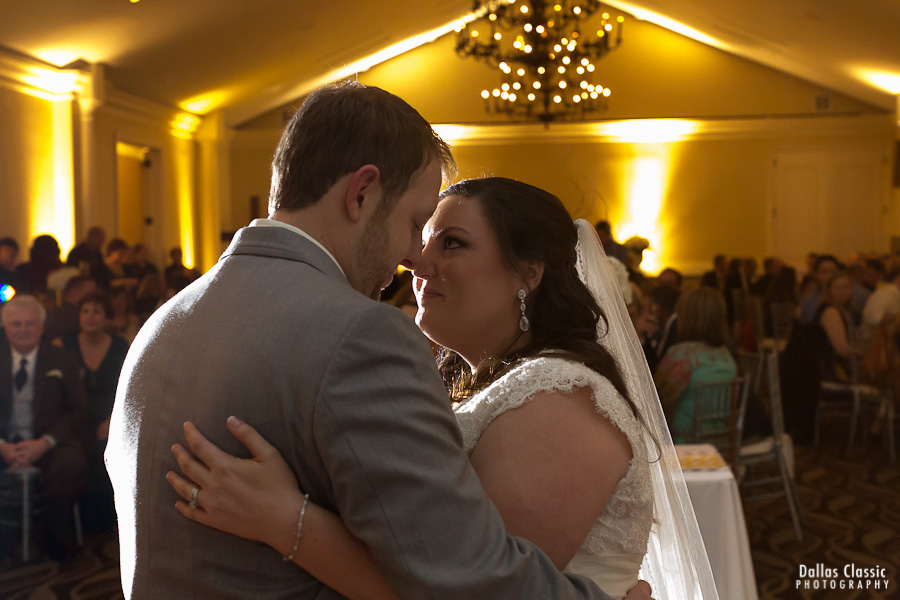 The first dance at the wedding